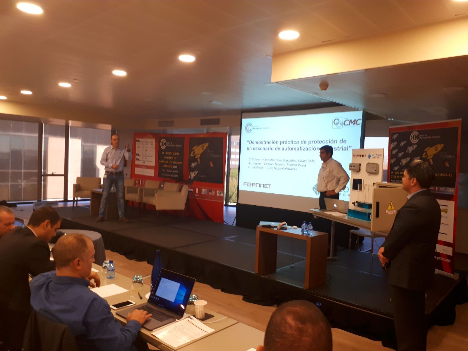 IX Congreso Internacional de Ciberseguridad Industrial. Fortinet & Nozomi Networks.