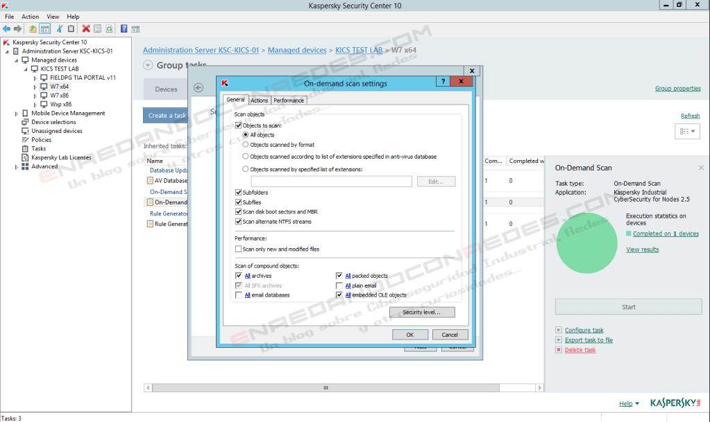 KICS for Nodes AV scan parameters